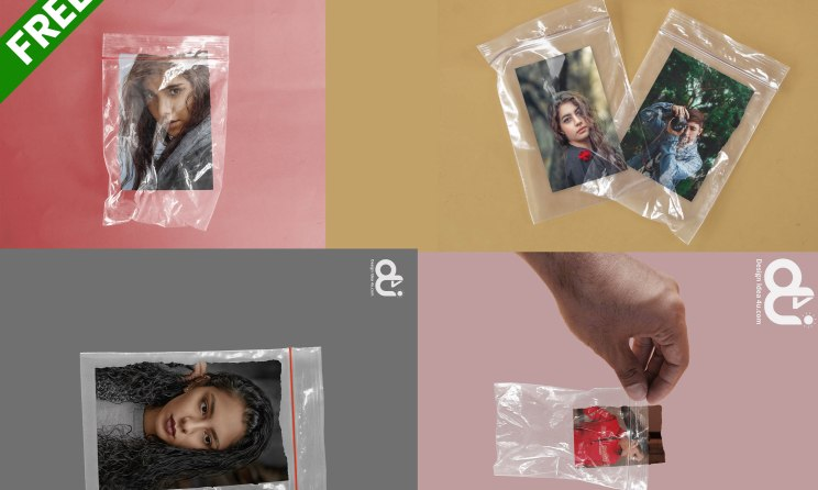 Best 5 Realistic Zip Lock Bag Mockup PSD Template Free Download