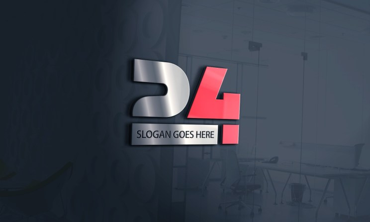 Modern, Business Logo Design for 24 Hour - Creative Number 24 Logo Design