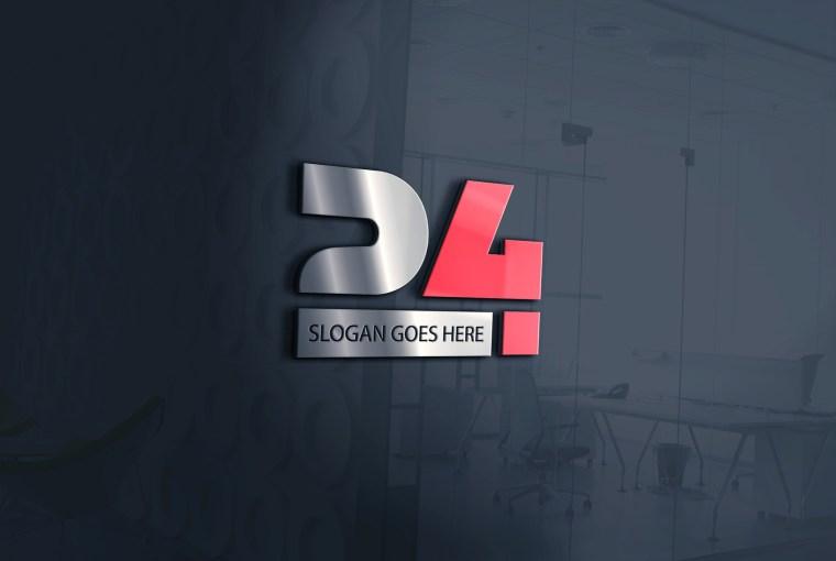 Modern, Business Logo Design for 24 Hour - Creative Number 24 Logo Design