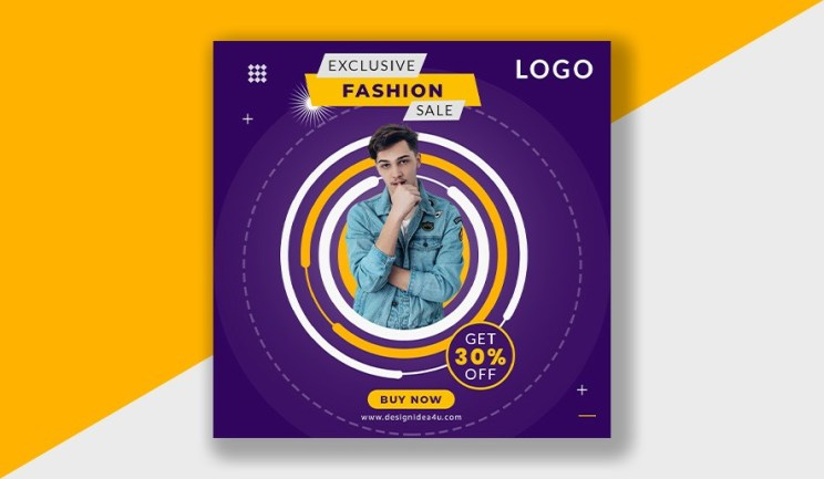 PSD Template - Social Media Post Design Freepik