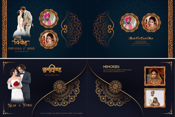Luxury Wedding Album Cover PSD 2021 | Design Idea 4u