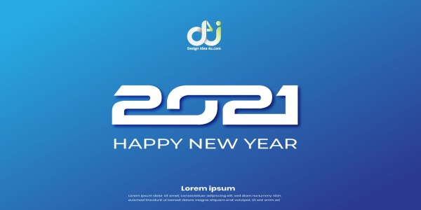 Modern Happy New Year 2021 Background