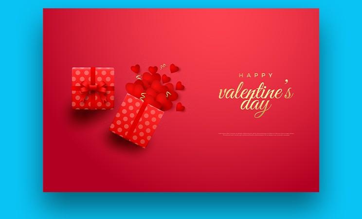 Valentines Day Modern Sale Banner