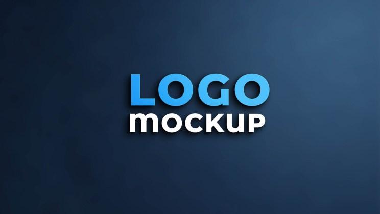 lettering logo mockup