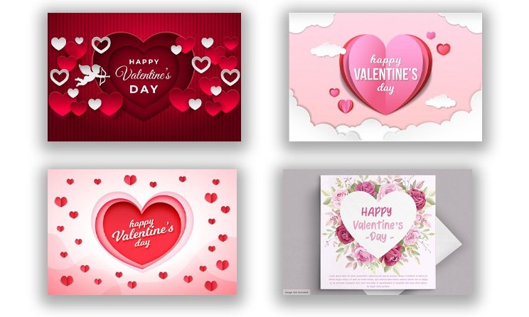 Top 5 Lovely Happy Valentine's Day Background with Hearts