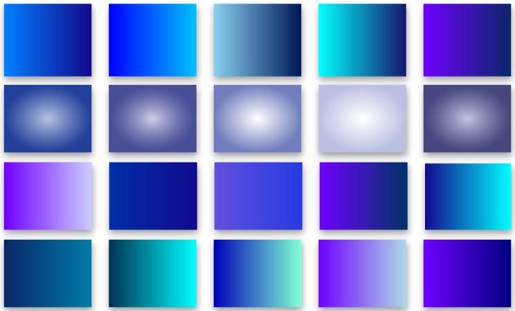 Blue & cyan gradient swatches