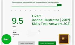 Fiverr Adobe Illustrator ( 2017) Skills Test Answers 2021
