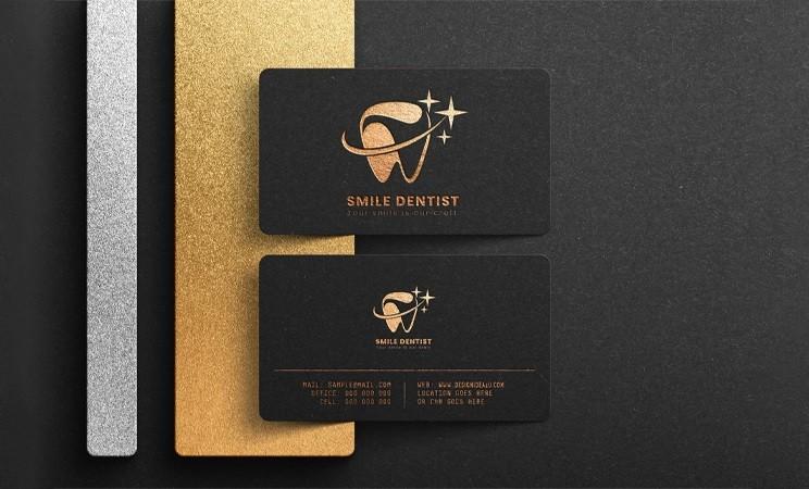 Luxury Logo Mockup Black Business Card