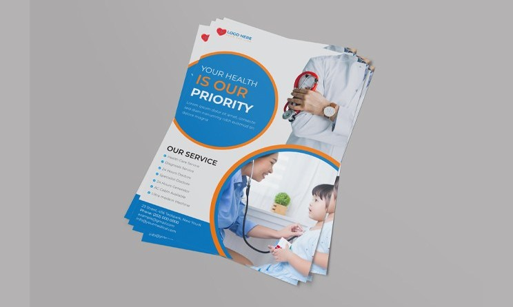 Doctor Flyer - Creative Medical Flyer Template Design