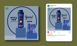 Beauty and natural cosmetics product social media post template
