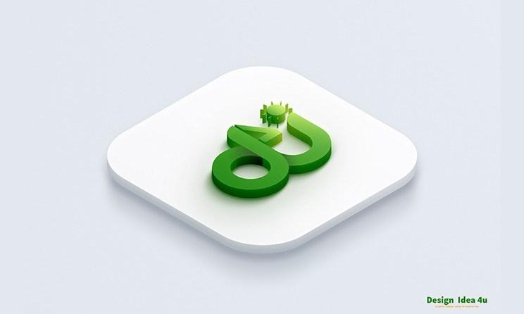 Best Double 3D Logo Mockup Free Download
