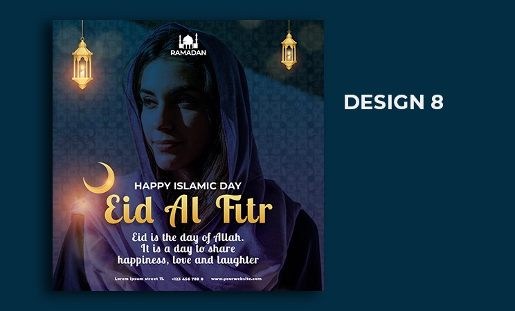 Eid mubarak Instagram post