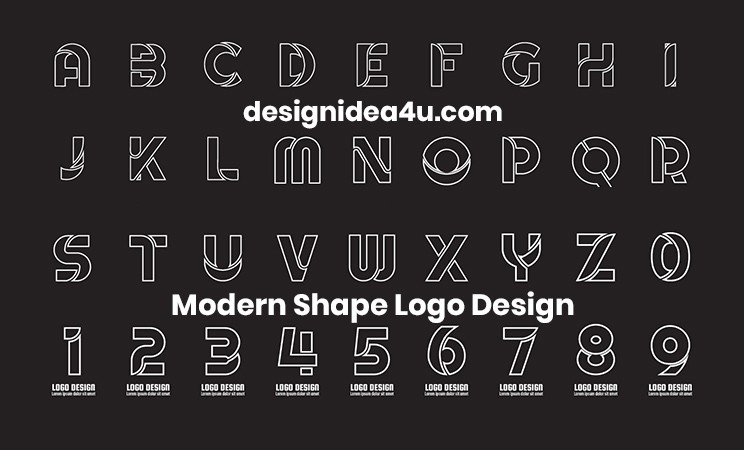 a-z modern shape logo design