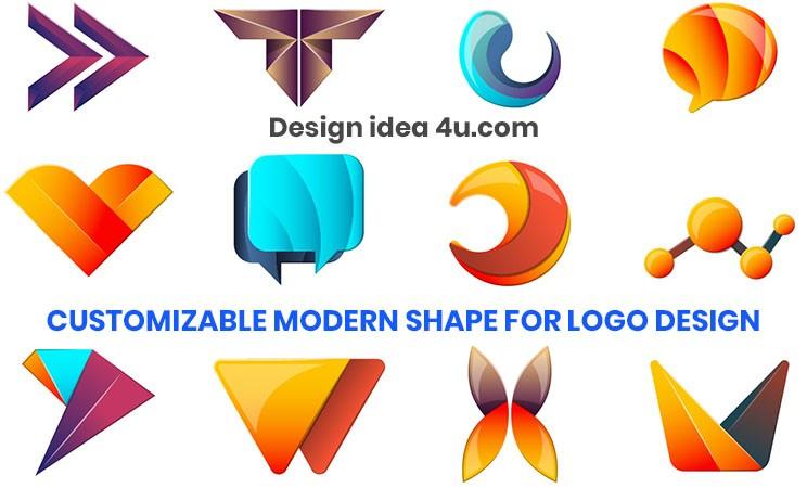 Colorful Modern Shape Logo