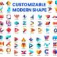 Customizable Modern Shape For Logo Design