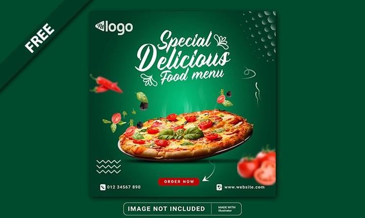 Food Social Media Promotion Banner Post Template