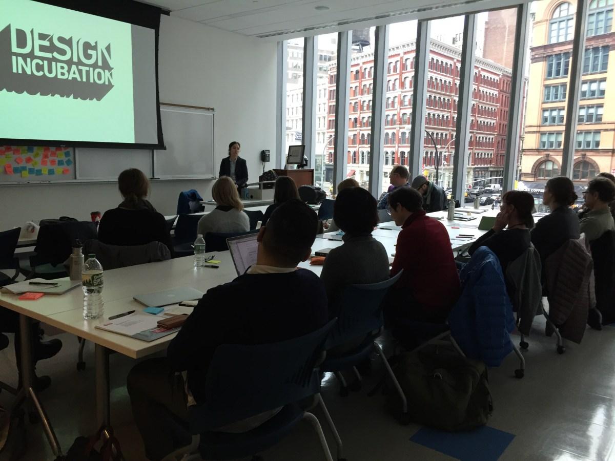 Design Incubation Fellowship 2018