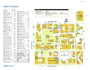 sjsu campus map pdf Sanjose Campus Map Design Incubation sjsu campus map pdf