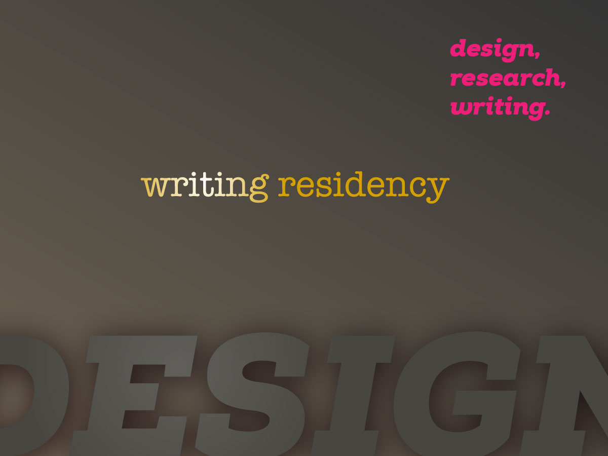 The Design Incubation Residency at Haddon Avenue Writing Institute