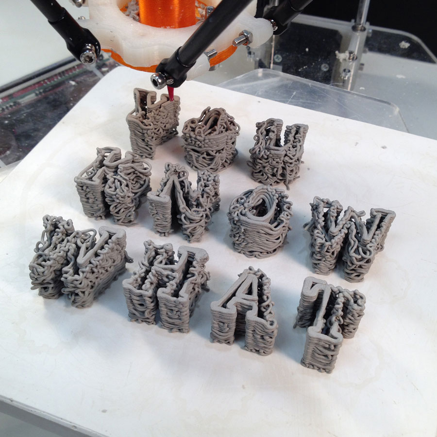 Tangible Type with 3D printing