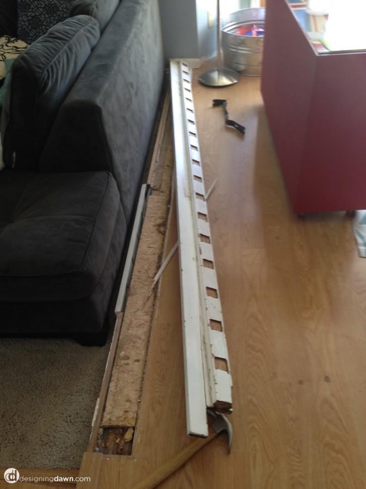 Designing Dawn - railing tear out