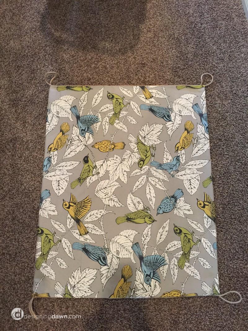 DIY Fabric Gate from DesigningDawn.com