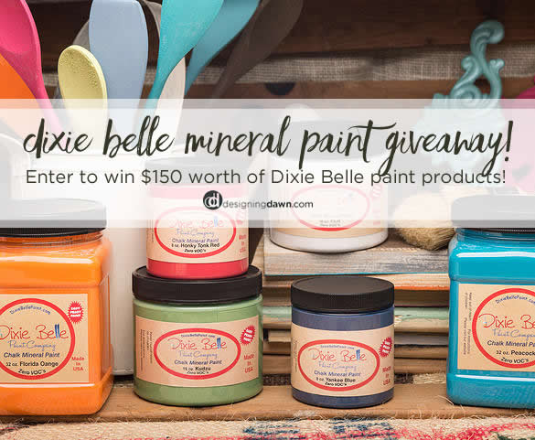 Dixie Belle Paint Giveaway on DesigningDawn.com