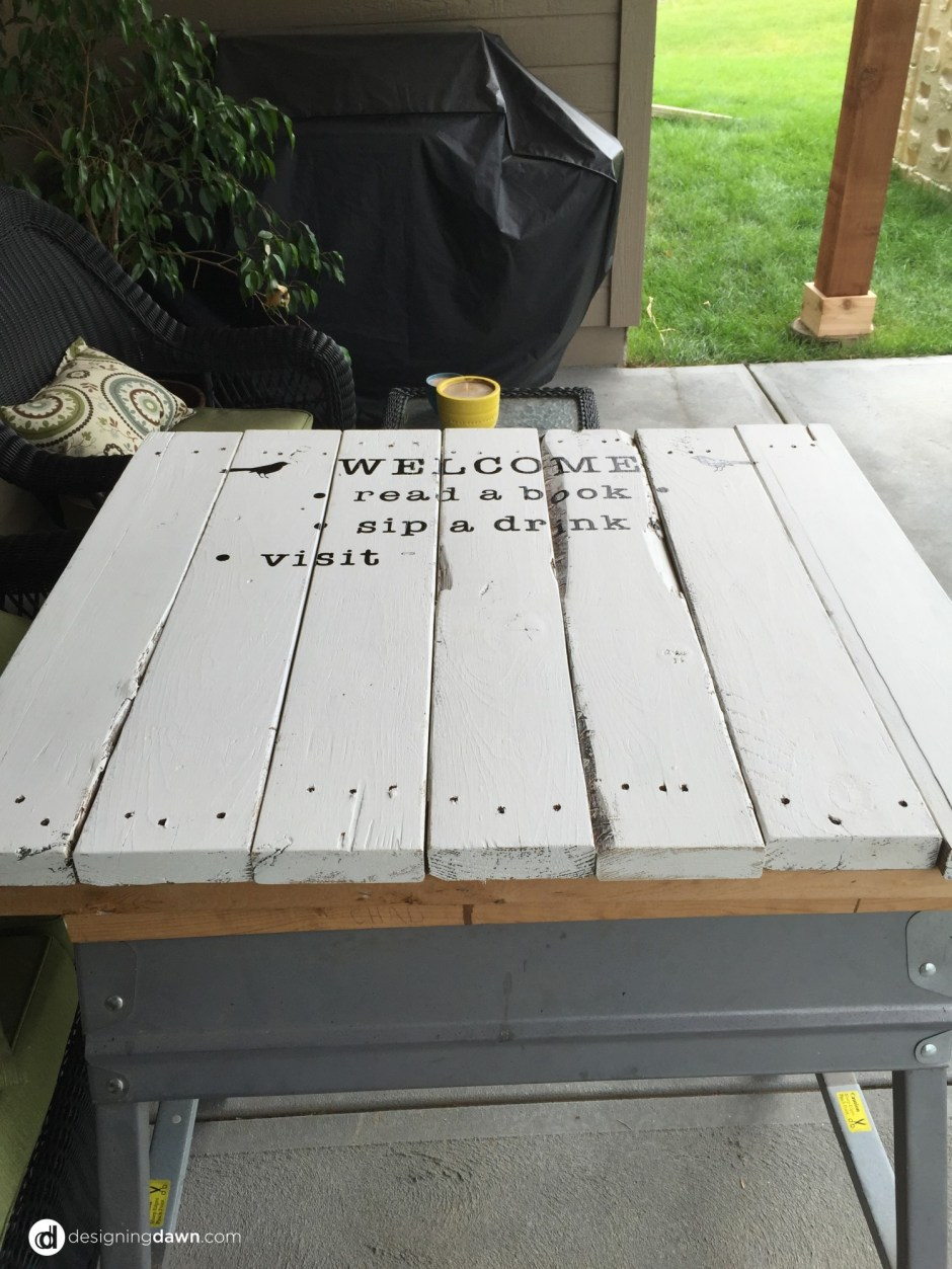 DIY patio pallet sign • AD Aesthetic