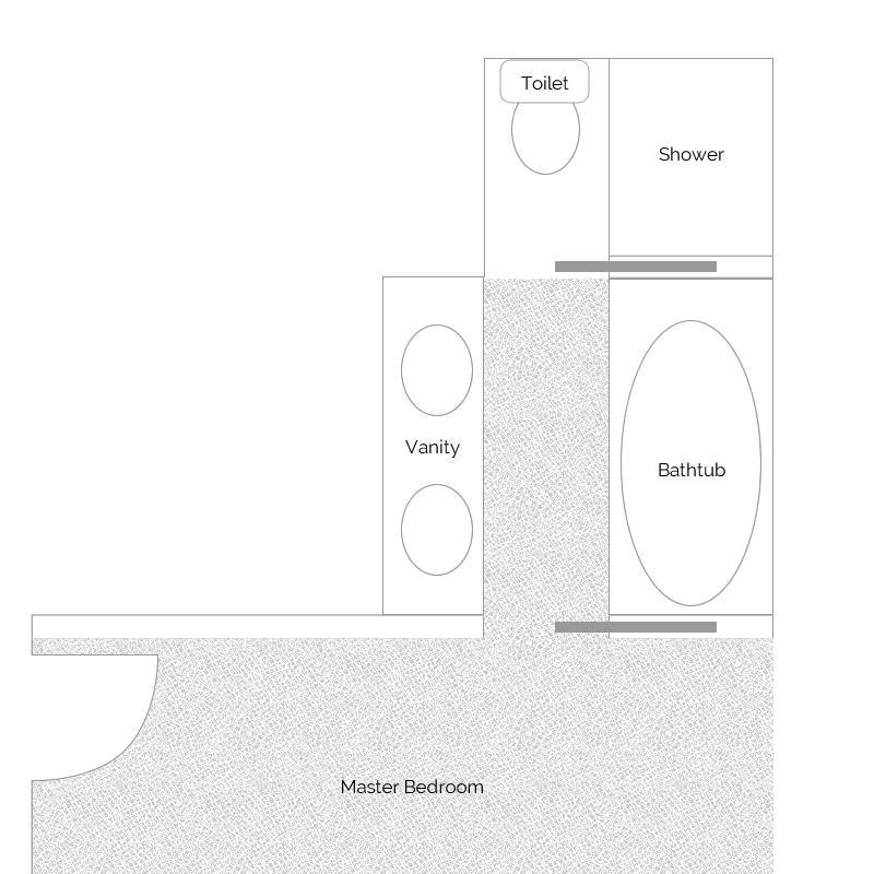 Master Bathroom Layout - DesigningDawn.com