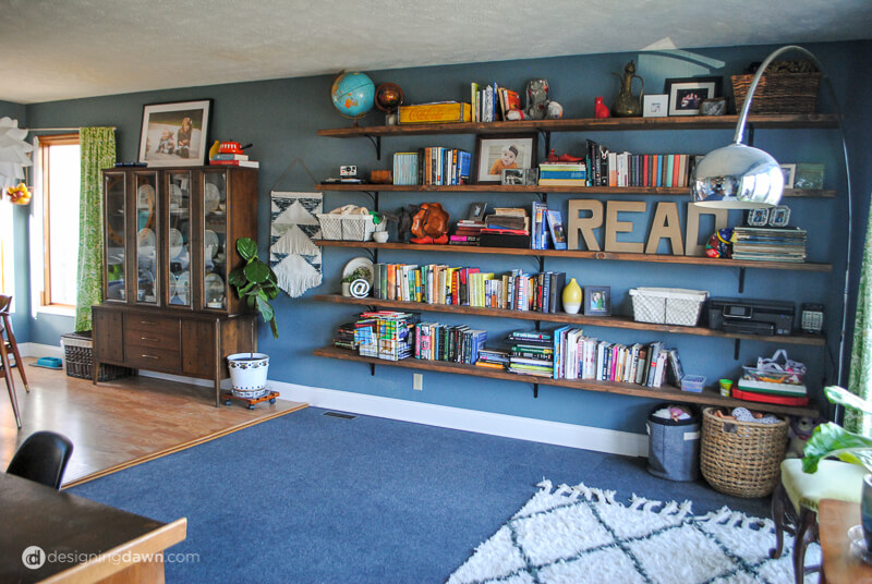 DIY Library Bookshelves-2