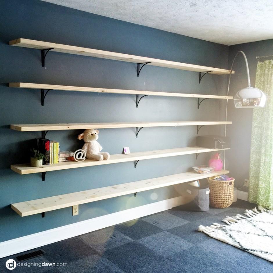 DIY Home Library - DesigningDawn.com