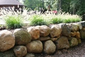 Boulder wall