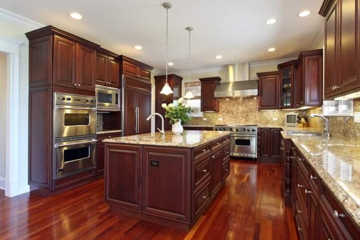 Custom Cherry Wood Cabinet Kitchen