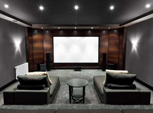 Home Theater With Lounge Couches These Ideas