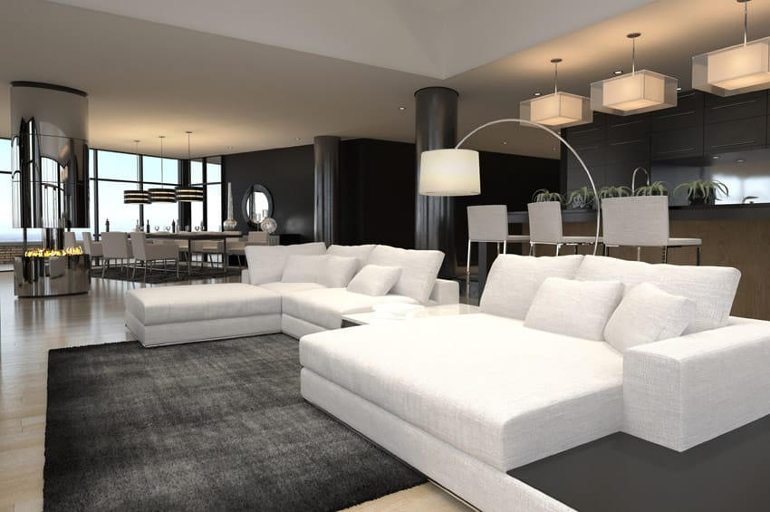 60 Stunning Modern Living Room Ideas Photos Designing Idea. Black And White  Contemporary ...