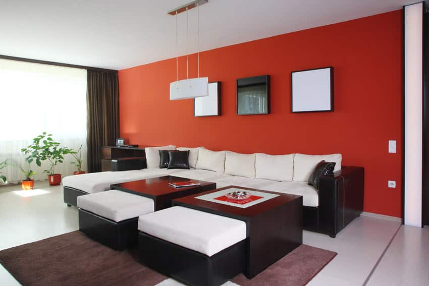 60 Stunning Modern Living Room Ideas Photos Designing Idea. Red Accent Wall  Brightens The Fabulous Room Design Robinson Interiors Part 28