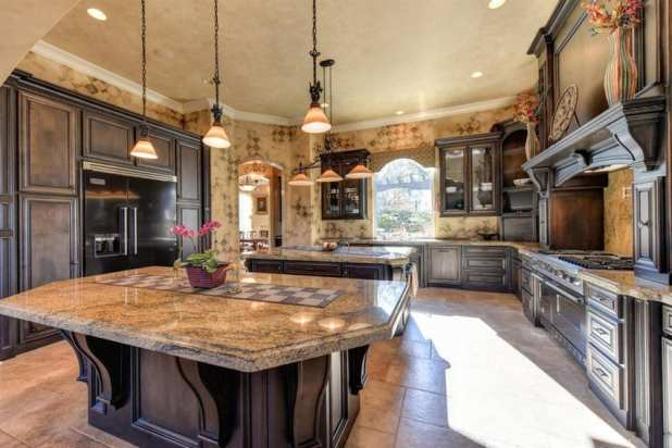 Brown Kitchen Designs With Light Colored Cabinets