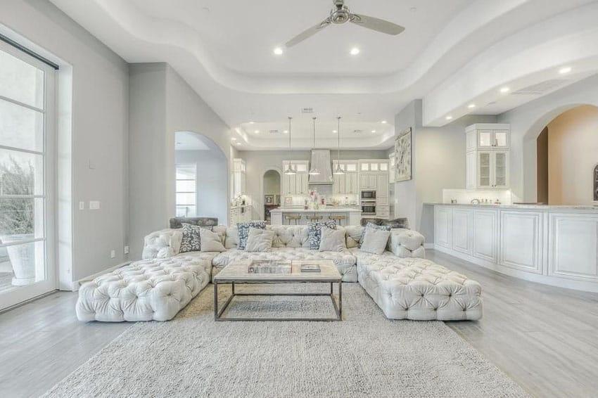 Captivating White Tiled Living Room Designs Centerfieldbar Com