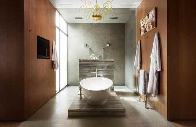 Japon küvetli modern banyo