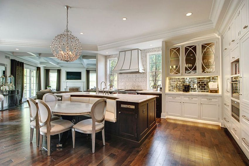 37 Large Kitchen Islands With Seating Pictures