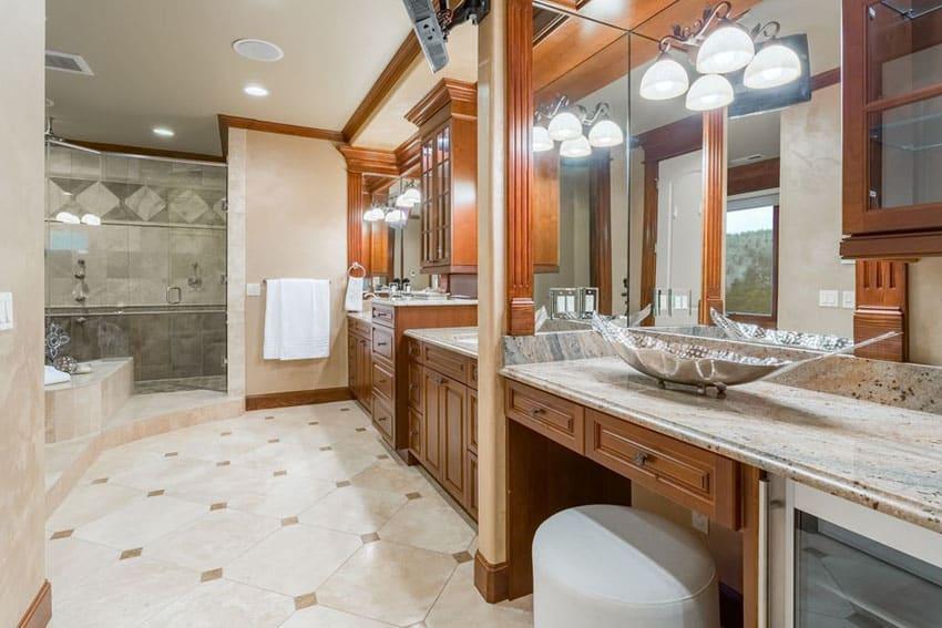Rustic Gray Small Bathroom Idea