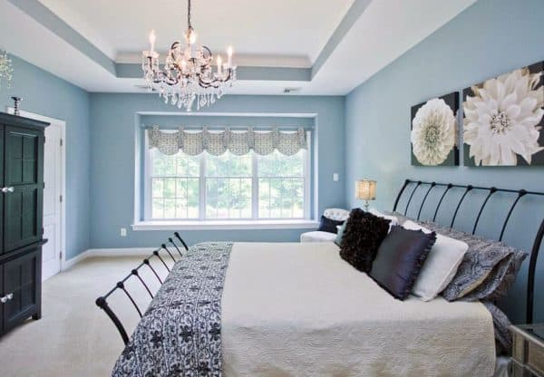 29 Beautiful Blue And White Bedroom Ideas Pictures Designing Idea