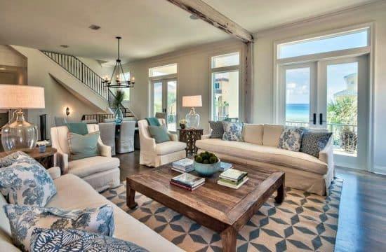 21 Coastal Themed Living Room Designs (Decorating Ideas