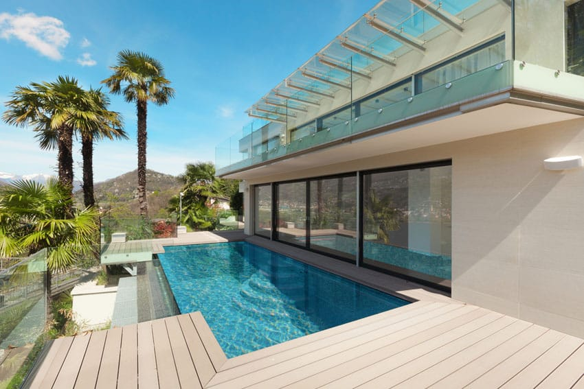 Contemporary Modern House With Infinity Pool Novocom Top