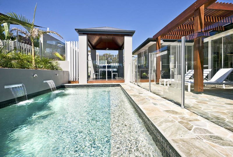 Swimming Pool Waterfalls Design Ideas Designing Idea