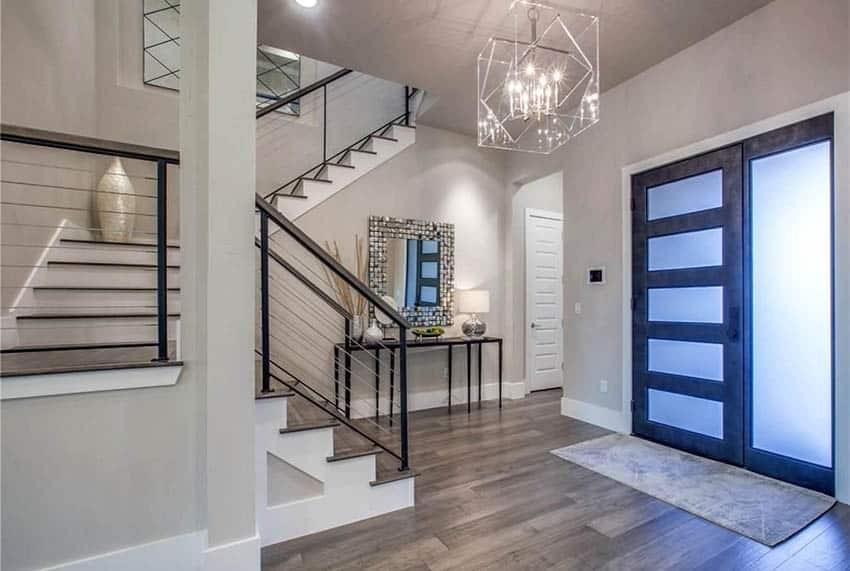 60 Gorgeous Stair Railing Ideas Designing Idea | Black Steel Stair Railing | Custom | Wood | Residential Indoor Residential Glass | Stainless Steel | Concrete