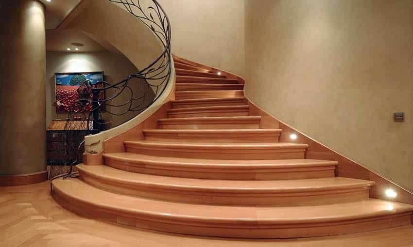 60 Gorgeous Stair Railing Ideas Designing Idea | Wooden Hand Railing Designs | Light Wood | Residential Industrial Stair | Wood Panel | Decorative Glass | Scandinavian