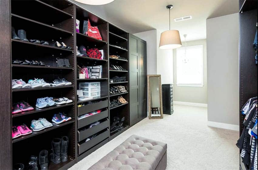 closet shoe storage ideas racks