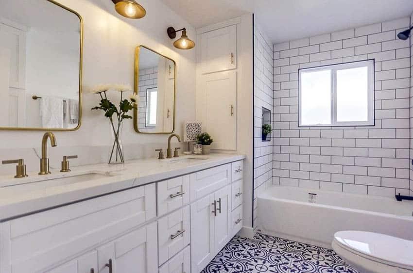 types of bathroom tiles designing idea