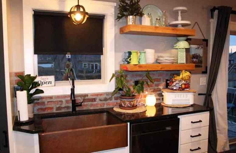Keuken open rekken decor